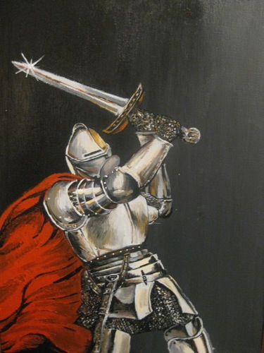 Knight in Shining Armor painting by Ahria Coroy knight in armor and cape with sword
