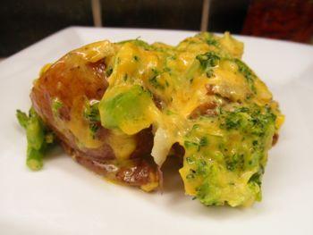 Broccoli Cheese Potato Casserole - Carla Anne Coroy - photo of Broccoli Cheese Potato Casserole serving