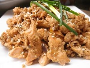 Ginger Garlic Salmon - Carla Anne Coroy - gluten free ginger garlic salmon garnished with sesame seeds and green onion slices