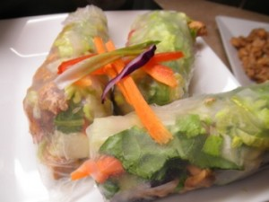 Vietnamese Salad Rolls with Ginger Salmon - Carla Anne Coroy