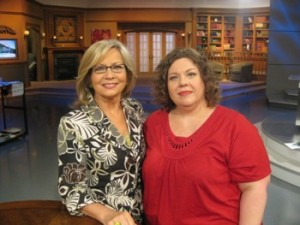 Look what I've been up to - Carla Anne Coroy - Carla Anne with Moira Brown at 100 Huntley Street