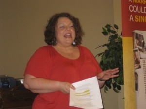 Look what I've been up to - Carla Anne Coroy - Carla Anne speaking in Brantford at Pregancy & Resource Centre MOPS