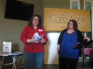 Look what I've been up to - Carla Anne Coroy - With Nicola Keene at Liberty Pentecostal women's breakfast
