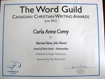 Gala Awards - Married Mom Solo Parent Honored Twice - Carla Anne Coroy - Award of Merit Relationships