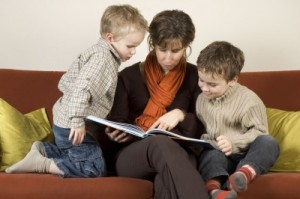 Solo Moms and Grumpy Kids - Carla Anne Coroy - A Mom reading to her kids