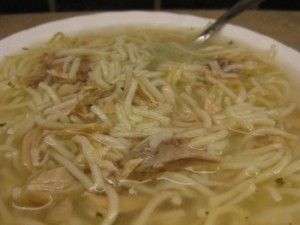 Chicken Soup - Carla Anne Coroy - A bowl of homemade Chicken Noodle Soup