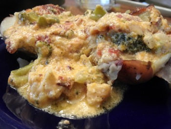 Baked Potatoes with Bacon Broccoli Cheese Casserole Sauce