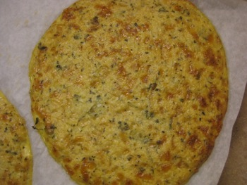 Gluten Free Cauliflower Crust Pizza - Carla Anne Coroy - Baked Cauliflower Pizza Crust - this one was not baked long enough