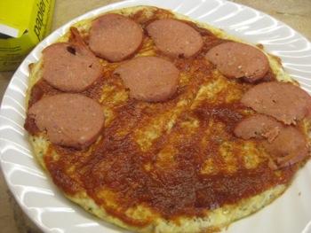 Gluten Free Cauliflower Crust Pizza - Carla Anne Coroy - Cauliflower Crust Pizza putting on toppings part 1