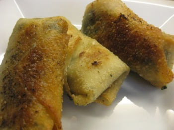 Cheesy Ham and Spinach Egg Rolls - Carla Anne Coroy - Egg Rolls All Done